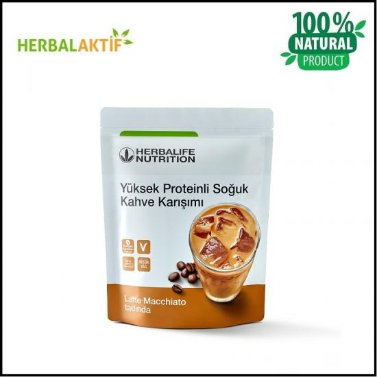 Yüksek Proteinli Soğuk Kahve Karışımı Latte Macchiato 308 g